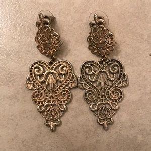 Lace Gold Earrings
